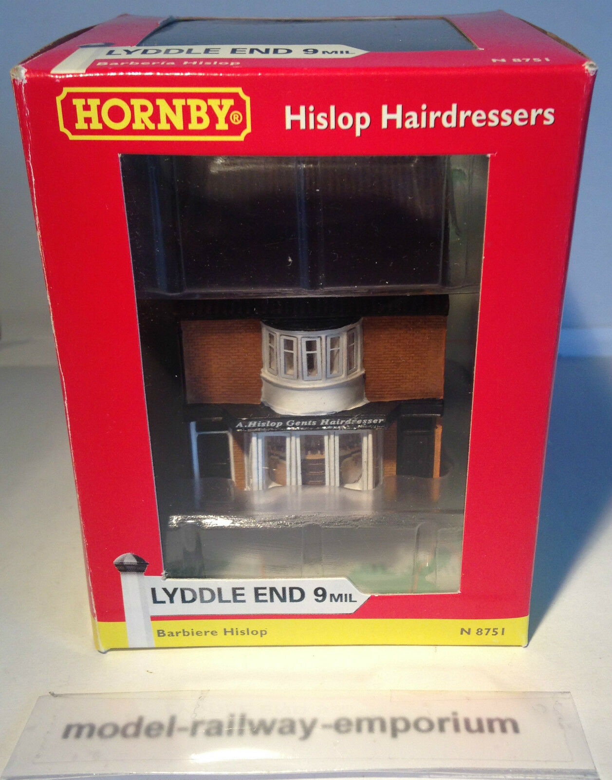 Hornby LYDDLE END - N8751 - HISLOP HAIRDRESSERS HAIRDRESSERS HAIRDRESSERS BARBERS RARE - TAKE A LOOK BOXED d8520e