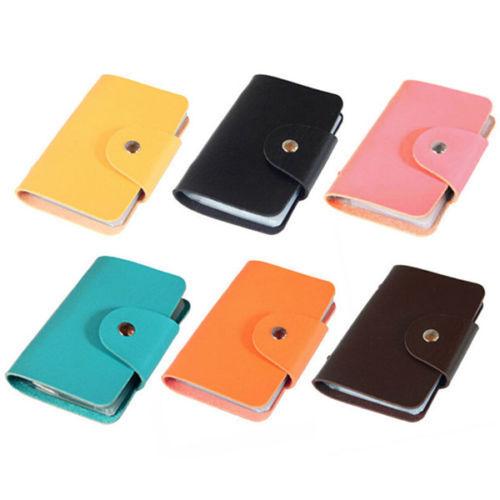 Hot Men 24 Cards Slim PU Leather ID Credit Card Holder Pocket Case Purse Wallet