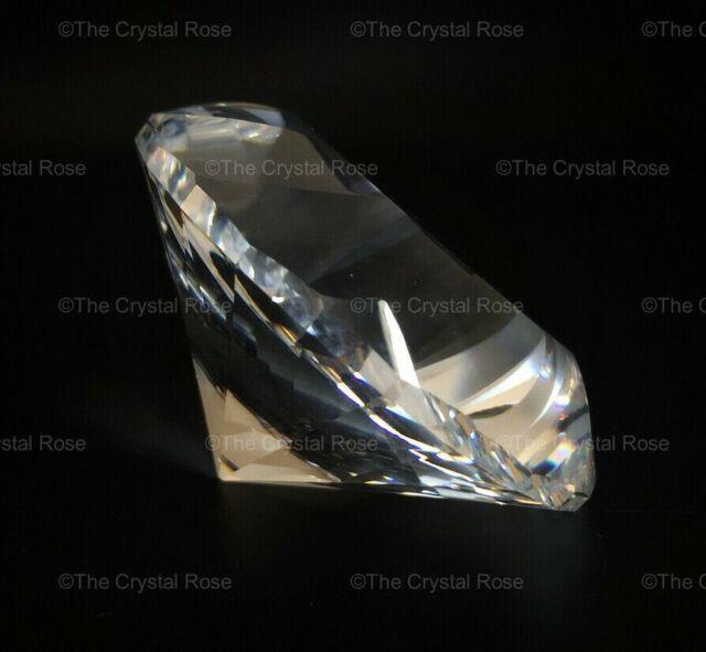 RARE Retired Swarovski Crystal Large Paperweight Chaton Swirled Wavy 238167 Mint