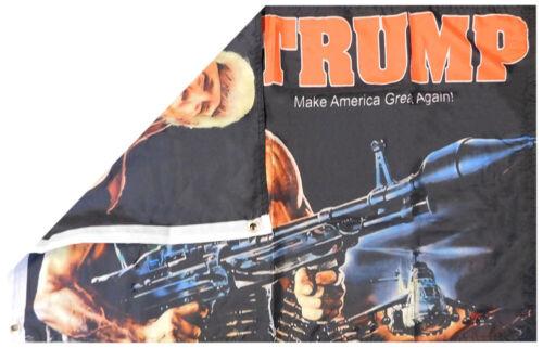 Trump Bazooka Make America Great Again 100D Woven Poly Nylon 2x3 2/'x3/' Flag