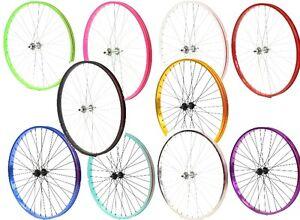 "Beach Cruiser bike 26/""x 32mm Fat Rear /& Front Wheels Wheelset Rims Green"