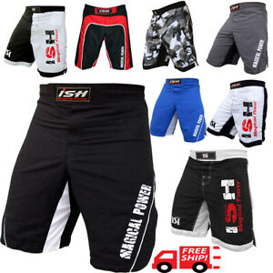 Kick-Boxing-MMA-Shorts-UFC-Cage-Fight-Fighter-Grappling-Muay-Thai-Men-039-s-Short