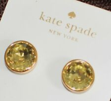 Item 2 Kate Spade Ny Crystal Champagne Gold Bezel Faceted Simple Stud Earrings