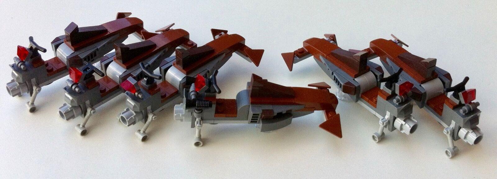Lego Star Wars 6 SITH SPEEDER BIKES avec instr from set 75017 original lego