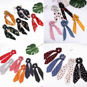 Ribbon-Hair-Band-Ponytail-Scarf-Hair-Rope-Floral-Bow-Scrunchie-Hair-Bow-Ties