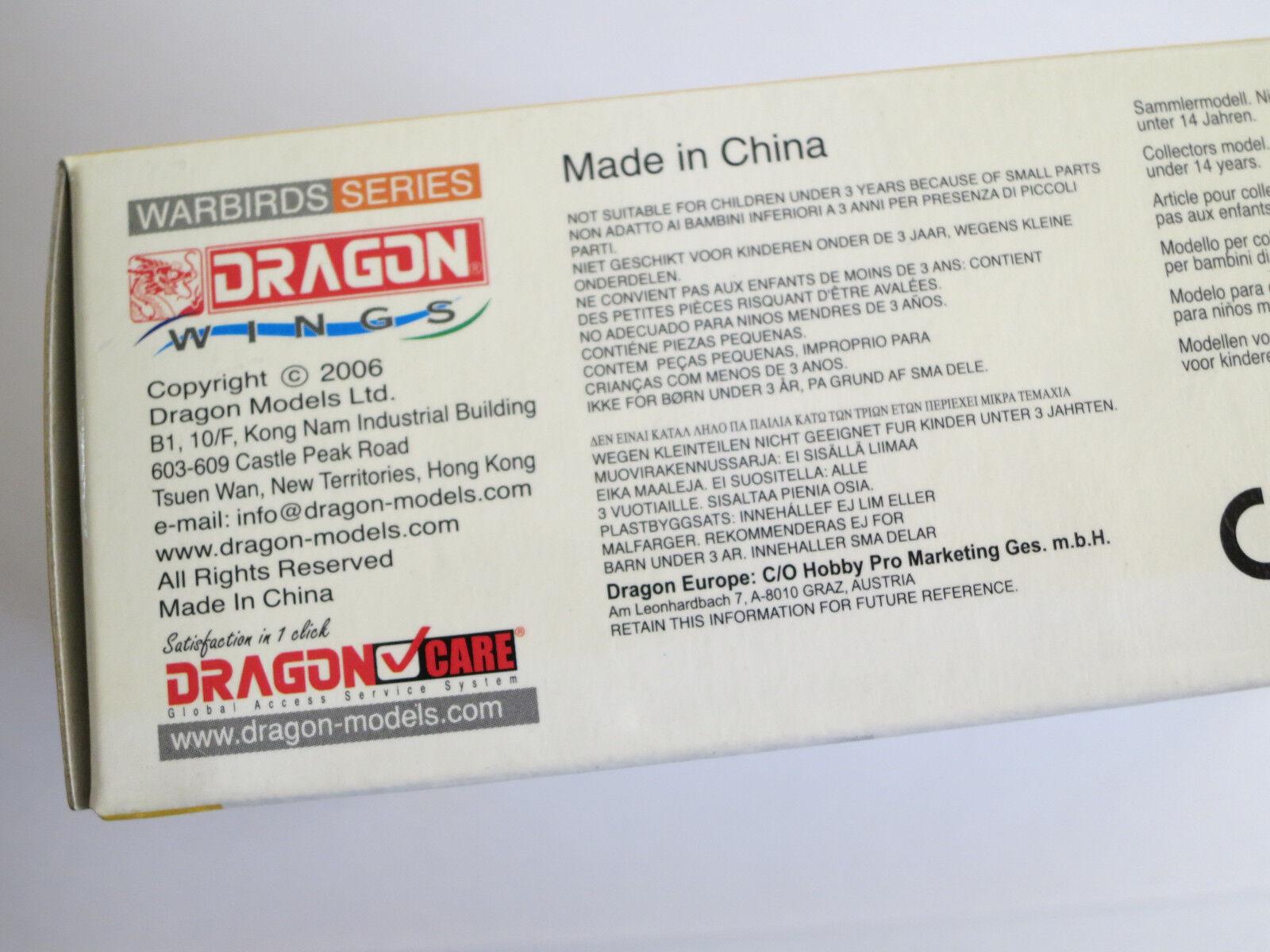 Dragon Dragon Dragon Wings 1 72 Warbird Series DX06 Me109G-6 Oscar Boesch Diecast NEW 135a83