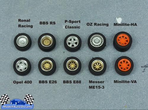 FELGEN  Felgensatz Umbau Zubehör Opel 400 Leichtmetallfelge Räder Radsatz 1:43
