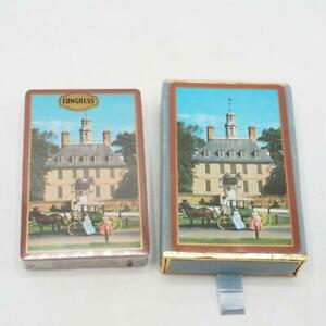Vintage-Congresso-Governor-039-s-Palace-Souvenir-Carte-da-Gioco-Williamsburg-VA