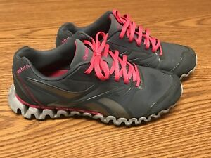 00e44c650c2 Reebok Zig Nano Women s Gray Pink Athletic Running Training Sneaker ...
