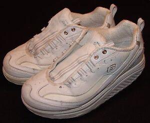 Blanco Caminar Zapatos 8 Deportivo 11800 Skechers Zapatillas Moldeadoras Mujer Pw0Hqdaax