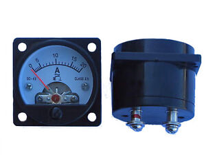 AC-DC-0-20-Amp-Analog-meter-battery-charge-monitoring-current-draw-inbuilt-shunt