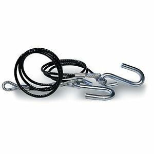 Tie Down 59537 Trailer Safety Cables Black Vinyl Coated 3,500lb