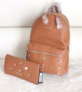 50e69e091e Image is loading BNWT-GUESS-CARSON-Stud-Small-Backpack-Shoulder-Bag-