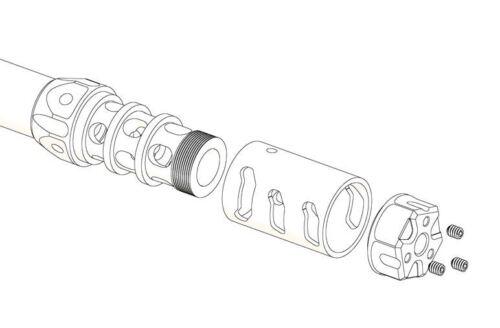 Odin Works ATLAS 7 Modular Adjustable Rise reducer comp 308 300 5//8x24 USA