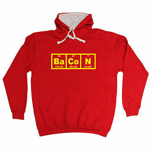 Image Is Loading BACON PERIODIC ELEMENT HOODIE Humour Geek Funny Birthday