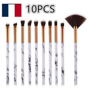 10-Pcs-Set-Brosse-Pinceaux-De-Maquillage-Poudre-Fard-A-Paupieres-Eye-liner-Yeux