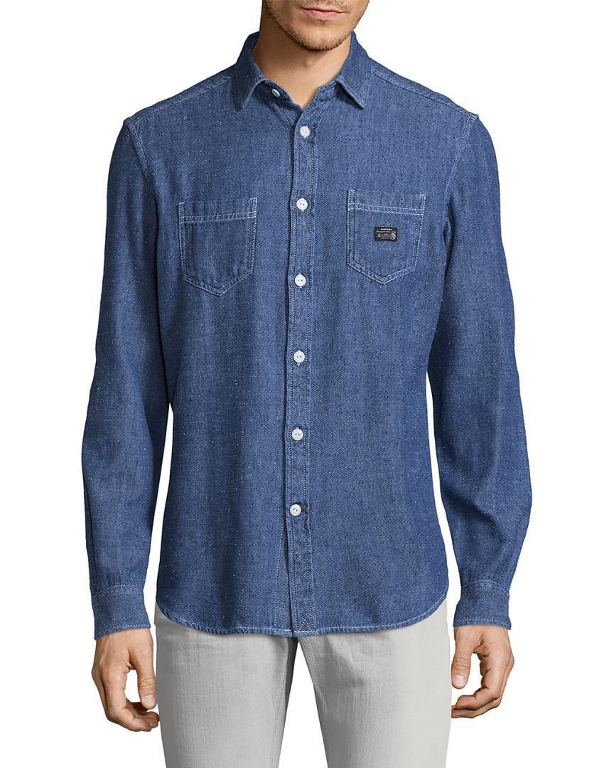 NEW DIESEL MEN'S SHIRTS SIZE XL S-GAB SPORT SHIRT IN blueE