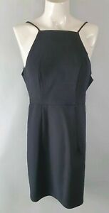 Luvalot-Black-Fitted-Party-Dress-Rose-Zip-Sz-8