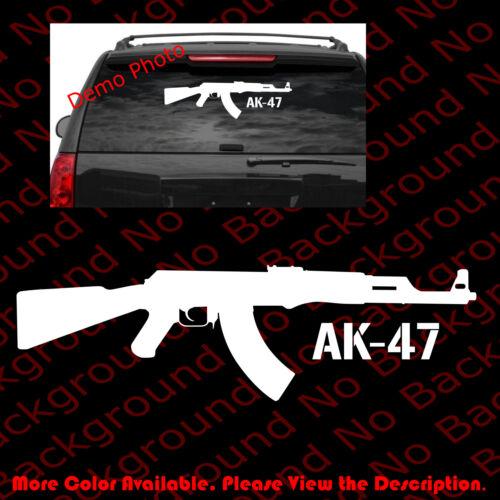 LARGE Kalashnikov AK-47 Vinyl Decal Window Car Gun Rights//Assault Rifle FA049