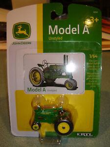 1/64 Ertl John Deere Modelo a Unstyled Nuevo en Paquete EEUU