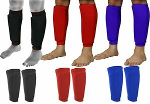 Shin-Pad-Garde-Chaussettes-Manches-Jambe-Protector-Homme-Ados-Garcons-Filles-Football