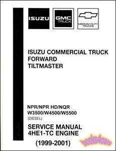 details about isuzu npr shop manual diesel service repair book 4he1 tc hd nqr forward workshop rh ebay com Isuzu NQR Truck Isuzu NPR Diesel Parts