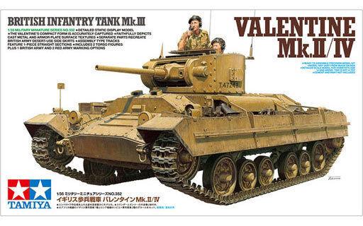 Tamiya 35352 British Infantry Tank Valentine Mk.II IV 1 35 scale kit Japan