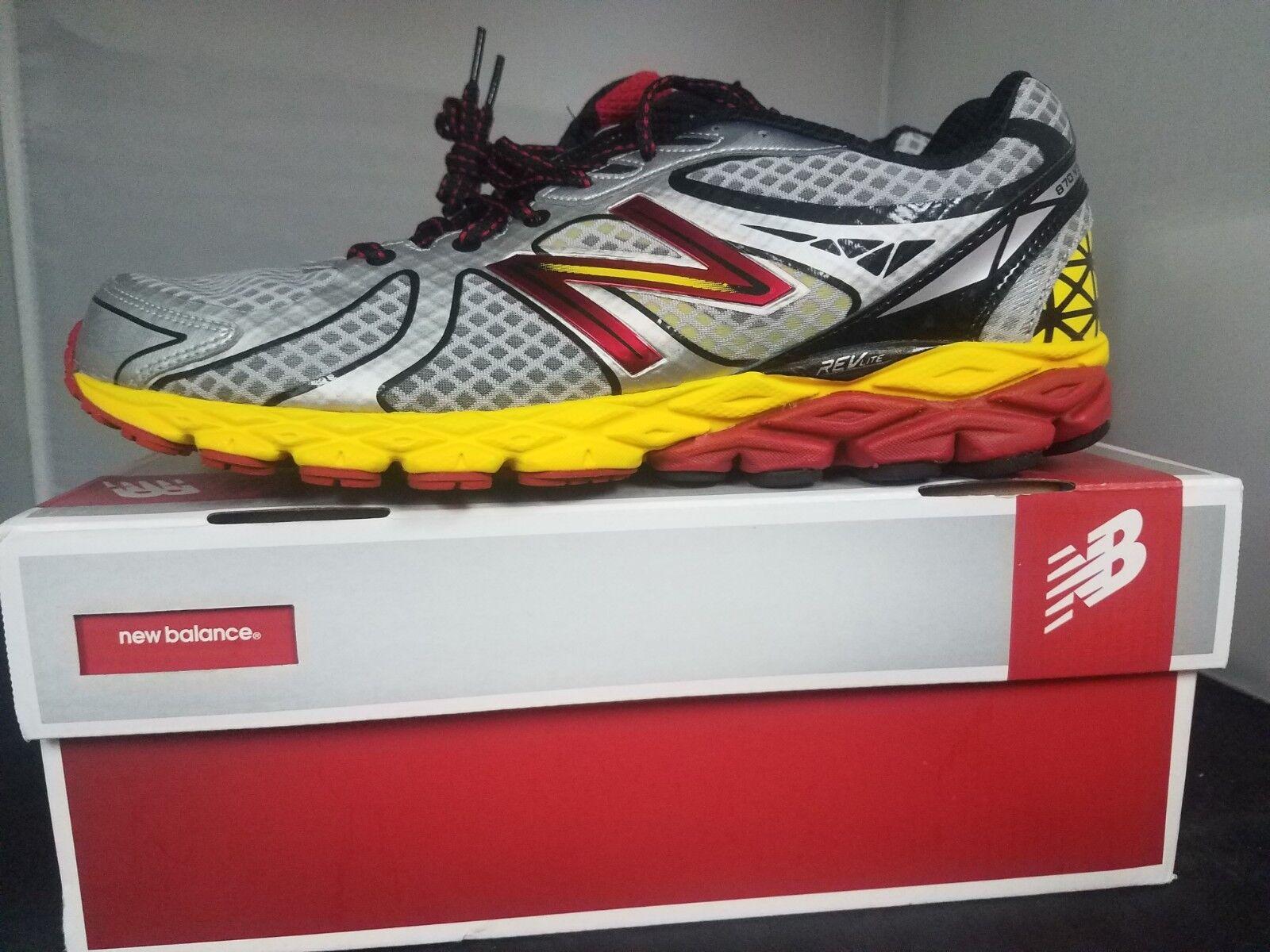 New balance M870SY3 Para Hombre Zapatillas Para Correr gris Rojo Amarillo-Nuevo En Caja
