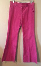 JUCY COUTURE JEANS RASPBERRY PINK FLARE LEG CORDUROYS