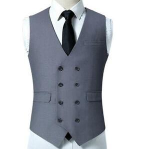 Tops ajustado Chaleco formal Tuxedo Corte cruzado hombre Vestido Boda Abrigo para w0BqqvaxWF