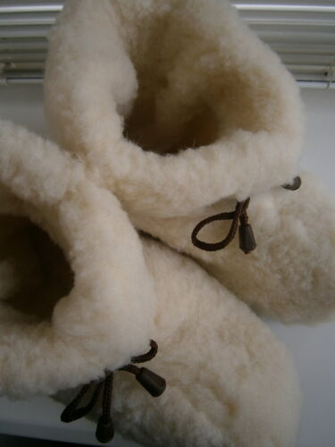 Super Warm Genuine Lambswool Soft Comfy Slipper Boots Home Footwear Womens Sizes