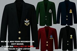 UNITS-I-TO-N-EMBROIDERED-REGIMENTAL-ARMY-ROYAL-NAVY-BLAZER-JACKET-BADGE-BUTTONS