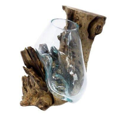 100% QualitäT Dekoglas Auf Holzwurzel Hängenden Schüssel Deko Dekoration Holz Vase Windlicht