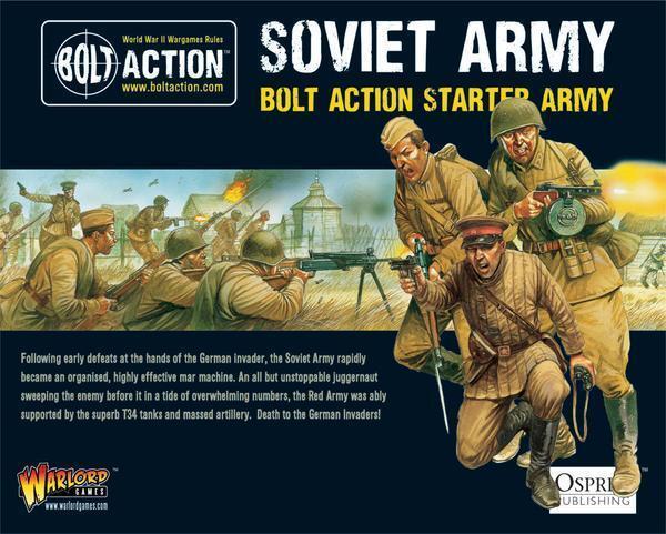 Bolt Action Stkonster Army - sovjetiska Warlord spel WGB -Stkonst -05 - P3