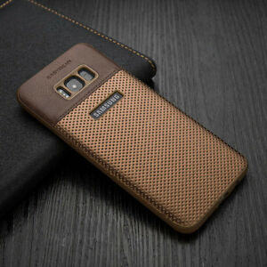 best website ce832 358f2 Details about For Samsung Galaxy S8 S10 Plus S9 Luxury Slim Hybrid TPU  Leather Back Case Cover