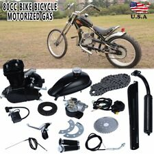 80cc 2-Stroke Engine Motor Kit for Motorized Bicycle Bike Gas Powered Black