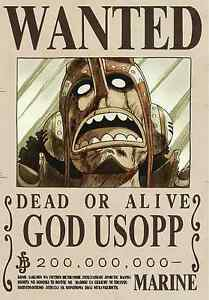 Poster A3 One Piece God Sogeking Lysop Belohnung Se Busca Wanted Neu