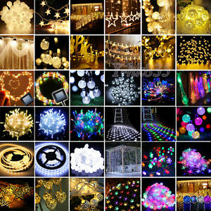 10-20-50-100-LED-String-Electric-Solar-Battery-Operated-Fairy-Christmas-Lights