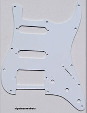 USA-MadeOFF-WHITE 1-Ply Strat SSH, Stratocaster Replacement Pickguard,Scrat