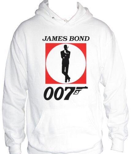 fm10 felpa cappuccio uomo 007 James Bond idea regalo CINEMA/&TV
