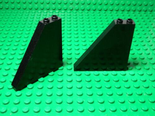 Set of 2 Black Slope 55 6 x 1 x 5 LEGO LEGOS