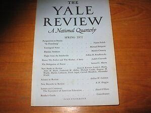 1972-Yale-Review-Russia-Erich-Segal-Hardy-Philip-Roth-John-Berryman-ETC