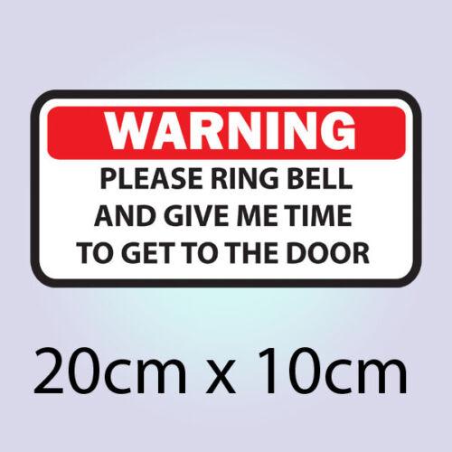 Polite Notice Ring Bell Do Not Bang Knock Door Sign Front Doorbell Sticker C447