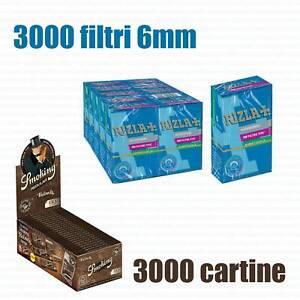3000-CARTINE-SMOKING-BROWN-CORTE-MARRONI-3000-FILTRI-RIZLA-SLIM-6-mm