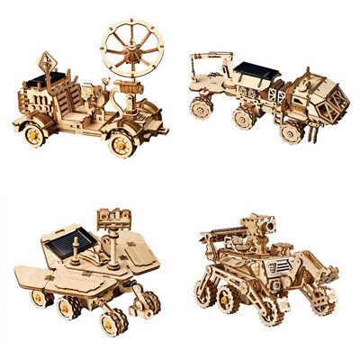 ROKR 3D Puzzle DIY Wooden Model Kits Laser Cut Solar ...