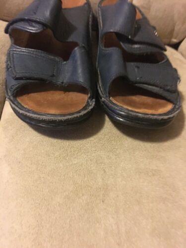FINN Comfort Germany Sandals Women 38 Blue Leather