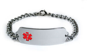 PACEMAKER-DIABETIC-HIGH-BLOOD-PRESSURE-Medical-Alert-ID-Bracelet-Free-engrave