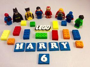 Remarkable Edible Fondant Lego Marvel Dc Superheroes Birthday Cake Topper Funny Birthday Cards Online Alyptdamsfinfo