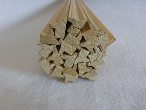20Stk 100cm Bilderrahmen 12x15mm Holzleisten Bilderleiste B97