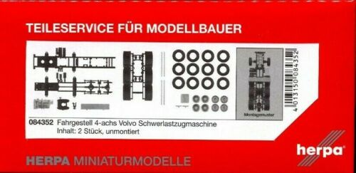 #084352 HERPA 1:87//H0 LKW Fahrgestell Zugmaschine Volvo Schwerlastzugm. 4-achs